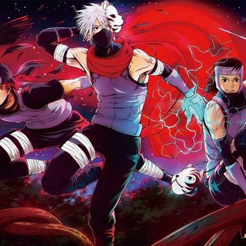 Naruto Sasauke ninja  Kakashi Hatake anbu Tenzou art Itachi Uchiha living room home wall art decor wood frame fabric poster MC086 AT_81_8