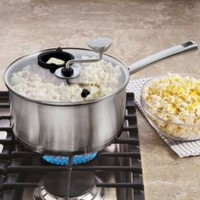 CHEFS Stainless-Steel Stovetop Popcorn Kettle