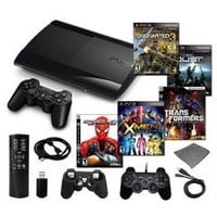 Playstation 3 Slim 250GB Mega Bundle with 4 Games and Accessories