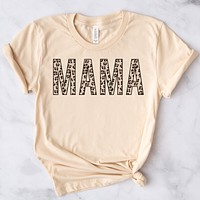 MAMA Neutral + Rose Gold Leopard Tee