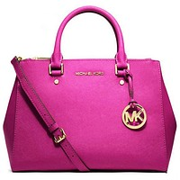 Michael Kors MK Women Shopping Bag Leather Tote Satchel Shoulder Bag Handbag Crossbody