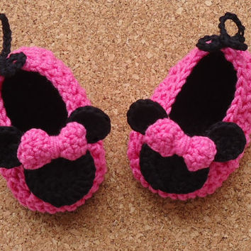 Minnie Mouse Crochet Shoes Pattern