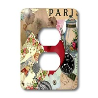 TNMPastPerfect Exotic Places - Love in Paris - Light Switch Covers - 2 plug outlet cover (lsp_124110_6)