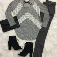 Lovely Lace Long Sleeve Top
