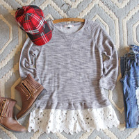 Fall Fable Lace Sweatshirt