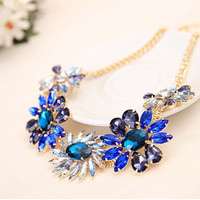 Blooms Rhinestone Necklace