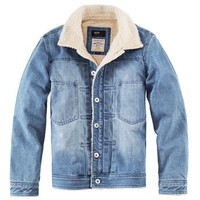 Coverall damaged denim jacket mens with polar fleece lined - $128.00 : Latest Leather Bags, Canvas Bags, Fashion Handbags