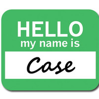 Case Hello My Name Is Mouse Pad