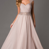 Floor Length Lace Embellished Dave and Johnny Dress