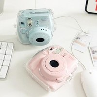 Fuji FujiFilm Instax MINI 8 Photo Polaroid Camera Crystal Case(CLEAR) FREE STRAP