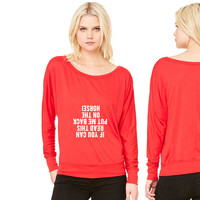 Equestrian Funny Horse women's long sleeve tee