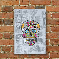 Mexican Sugar Skull Wall Clock Modern Art Connection, Day of the Dead