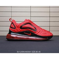 Nike Air Max 720 Fashionable Men Personality Sport Running Shoes Air Cushion Sneakers Red
