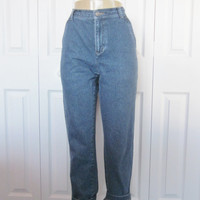 Vintage 90s Mom High Waisted Denim Jeans Liz Claiborne Hipster Jeans Womens Size 8 Side Pocket High Waist Jeans 30