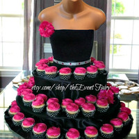 The Couture Cupcake Stand for birthdays,  parties, bridal showers, quinceanera and special events