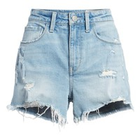 Treasure & Bond High Waist Boyfriend Cutoff Denim Shorts (Gravel Light Destroyed) | Nordstrom