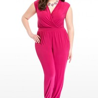 Plus Size Kendra Crossover Jumpsuit   Fashion To Figure