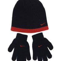 DCCK8TS Nike Boy`s Knit Beanie & Gloves Set