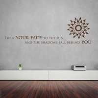 Face To The Sun Wall Decal
