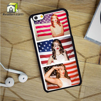Lana del Rey and American Flag iPhone 6 case by Avallen