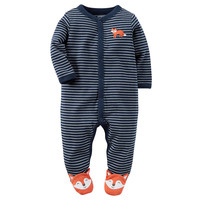 Baby Boy Carter's Striped Animal Sleep & Play