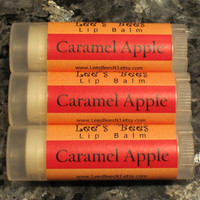 Lip Balm - Caramel Apple, One Tube All Natural Lip Salve Chapstick by Lee the Beekeeper