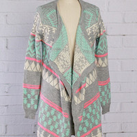 Winter Mint S'mores Cardigan