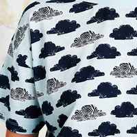 Cooperative Cloud Print Crop Tee in Light Blue - Urban Outfitters