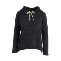 Gabriella Rocha Womens Ada Knit Heathered Hoodie