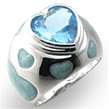 Sterling Silver Cubic Zirconia Ring 33923 - 925 Sterling Silver Ring