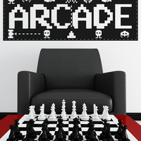 Vinyl Wall Decal Sticker Arcade Sign #OS_AA442