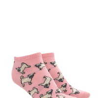Pug Graphic Ankle Socks