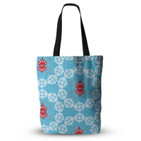 """Miranda Mol """"Frosted White"""" Blue Holiday Everything Tote Bag"""