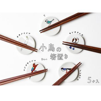 Little Birds Chopstick Rest Set (5 pcs)