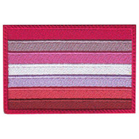 Lesbian Gay Pride Flag Embroidered Patch
