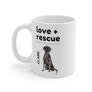 love + rescue Mug — Black Lab