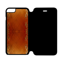 Wooden Surface iPhone 6 Flip Case Cover