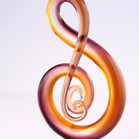Music Note Abstract Glass Art