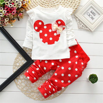 Minnie 2 Pc Girls Outfit