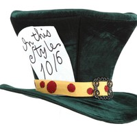 Adult Alice in Wonderland The Green MadHatter Hat