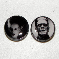 """Frankenstein and His Bride Plugs - 1 Pair - Sizes 2g, 0g, 00g, 7/16"""", 1/2"""", 9/16"""", 5/8"""", 3/4"""", 7/8"""" & 1"""""""