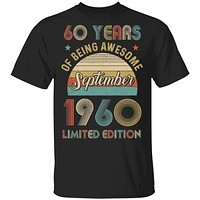Vintage September 1960 Limited Edition 60th Birthday Gifts