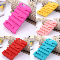 PINK Case for iPhone 6--Silicone Soft Back Cover