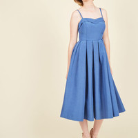 Convivial Connection Dress in Lapis