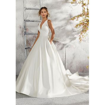 Blu by Morilee 5684 Laurie Satin Ball Gown Wedding Dress