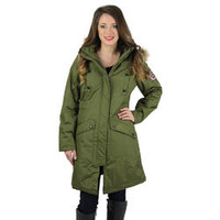 Canadian Outdoors Women's Parka Coat with Faux Fur Hood