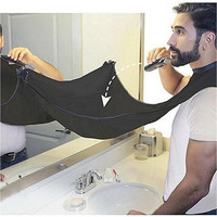Man Pongee Beard Care Shave Apron Bib Trimmer Facial Hair Cape Sink Black Shaving Clean Tool Household Cleaning Protection