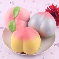 Teanfa New Colossal 10CM Squishy Pink/White Peach Slow Rising Cream Scented (Color: Random )