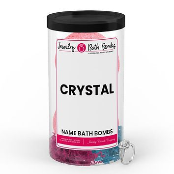 CRYSTAL Name Jewelry Bath Bomb Tube