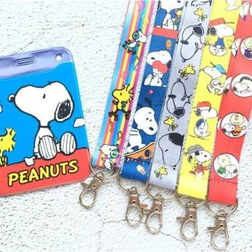 cute 1 pcs Cartoon anime dogs Lanyard Key Chains Pendant party Gifts Neck Strap Card Bus ID Holders Identity Badge Lanyard